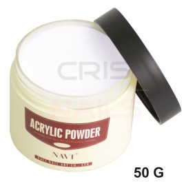 Polvo Acrílico NAVI 50g Transparente, blanco o rosa